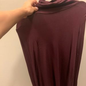 Aritzia Purple Turtleneck Dress